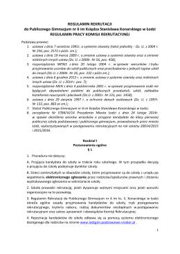 Załącznik nr 1 - Publiczne Gimnazjum nr 6 im. ks. Stanisława