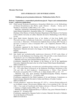 List of publications - English Version (PDF file)