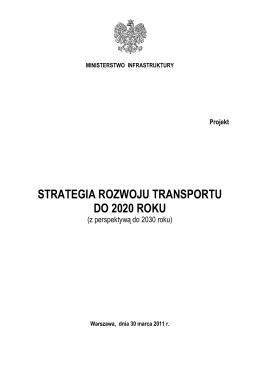 strategia rozwoju transportu do 2020 roku