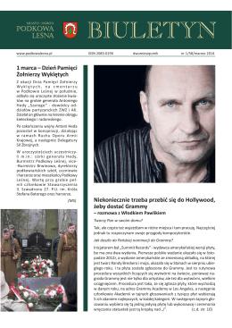 Numer 1/58, marzec 2014 r. - Podkowa Leśna, Urząd Miasta
