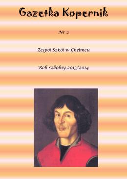 Gazetka Kopernik - Zespół Szkół w Chełmcu