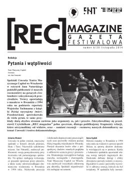Gazeta festiwalowa dzień szósty - Teatr im. Wandy Siemaszkowej w