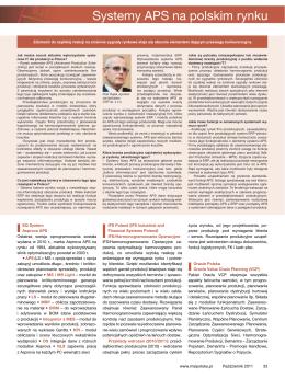 Rynek ERP Systemy APS na polskim rynku