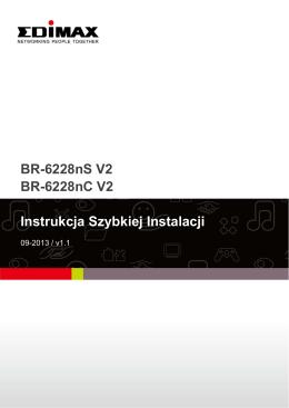 BR-6228nS V2 BR-6228nC V2 Instrukcja Szybkiej Instalacji