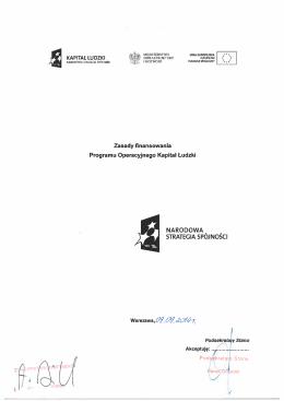 Zasady finansowania - od 1.10.2014 r.