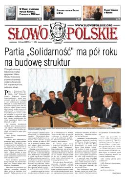 "Partia ""Solidarność"" ma pół roku na budowę struktur"