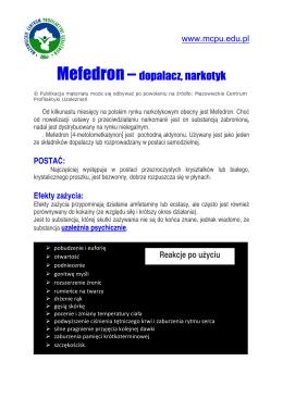 Uwaga Mefedron - Centrum Profilaktyki Społecznej
