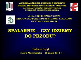 ZTPOK - Krajowe Forum Dyrektorów Zakładów Oczyszczania Miast