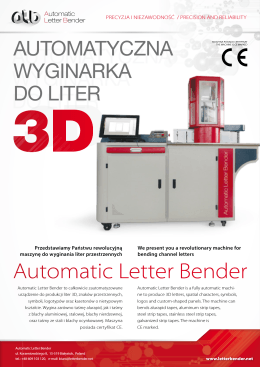 Automatic Letter Bender