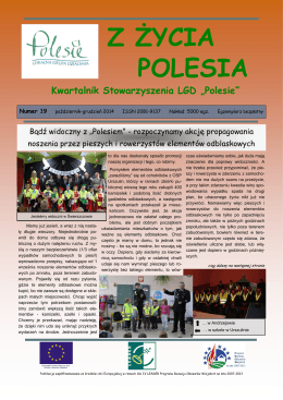 Z zycia Polesia-numer 19 - Stowarzyszenie Lokalna Grupa