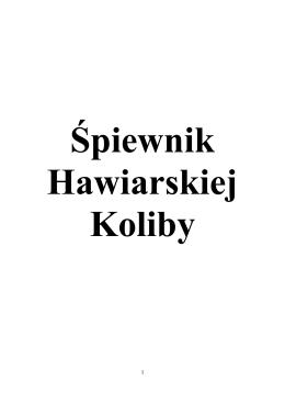 Śpiewnik - Hawiarska Koliba