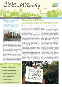 nr 58, listopad-grudzień/2012 - Urząd Dzielnicy Włochy m.st
