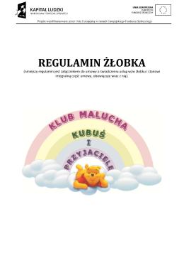 regulamin żłobka - Żłobek Kubuś i Przyjaciele Kraków