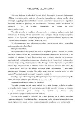 plik pdf - Wydawnictwo Wrocławskiej Wyższej Szkoły Informatyki