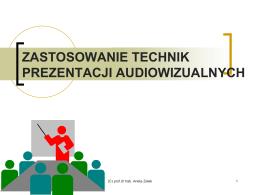 techniki audiowizualne