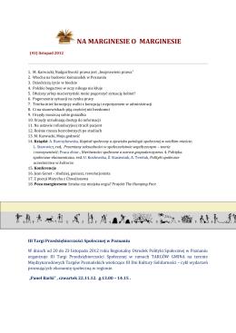 Na Marginesie o Marginesie (43) list 2012