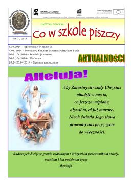Gazetka IV 2014 - Zespół Szkoły Podstawowej i Gimnazjum w