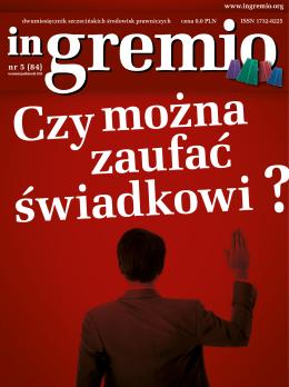nr 5 (84) - Okręgowa Rada Adwokacka w Szczecinie