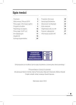 Poradnik Pierwszoroczniaka WGiSR UW 2014 (wersja .pdf)