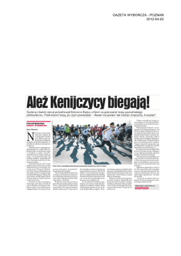 Monitoring mediów - Poznań Półmaraton