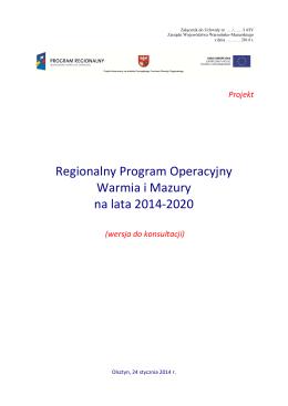 Regionalny Program Operacyjny Warmia i Mazury na lata 2014-2020