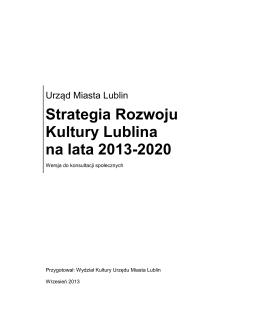 Strategia Rozwoju Kultury Lublina na lata 2013