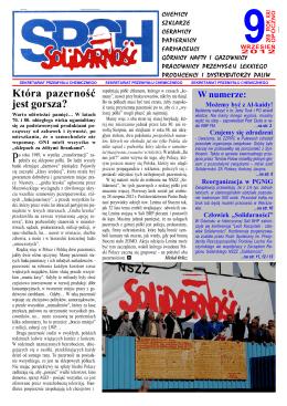 Zobacz miesięcznik - MOZ NSZZ Solidarność Z.Ch. POLICE SA