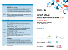Smart Cloud Infrastructure Summit_agenda