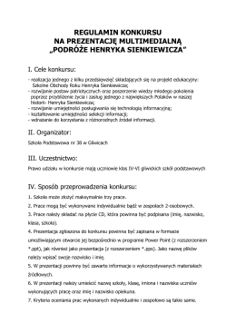 Regulamin - Szkoła Podstawowa nr 38 w Gliwicach