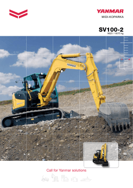 SV100-2 - Yanmar Construction Equipment Europe