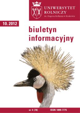 Biuletyn Informacyjny UR w Krakowie nr 4 (78)