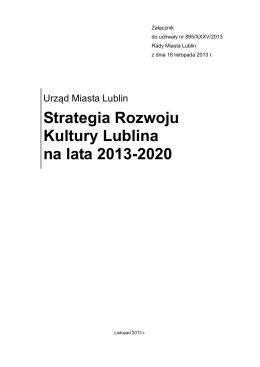 Strategia Rozwoju Kultury Lublina na lata 2013-2020