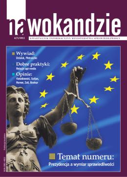 Temat numeru: - Na wokandzie - Ministerstwo Sprawiedliwości