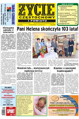 Pani Helena skończyła 103 lata! - Oficjalna strona I LO im. Juliusza
