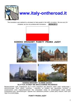 KODEKS DROGOWY (pdf 180 Kb)