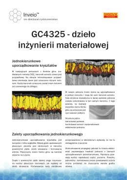 GC4325 - dzieło inżynierii materiałowej