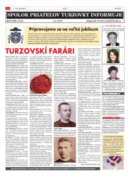 aprílové číslo (č.4) - Spolok priateľov Turzovky