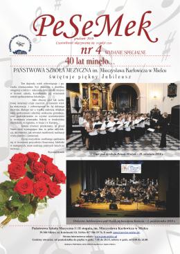 40 lat minęło... - Państwowa Szkoła Muzyczna I i II st. im