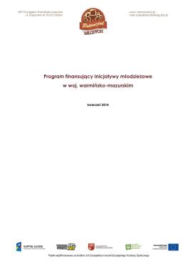 2. Program finansujący inicjatywy młodzieżowe w woj. warmińsko