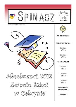 W numerze: - Zespół Szkół w Cekcynie
