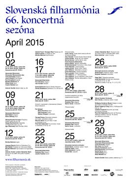 0201. 04. 2015, streda, cyklus M11 02. 04. 2015, štvrtok, cyklus C5
