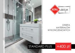 Oferta materiałów wykończeniowych - Standard Plus