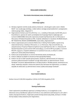 Regulamin akcji - strzelzpalca.pl