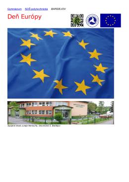 Deň Európy - Spojená škola J. Henischa