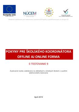 pokyny pre školského koordinátora offline aj online forma