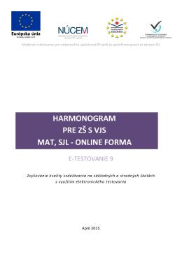 E-T9 Harmonogram 15.04.2015 online/ZS s VJS