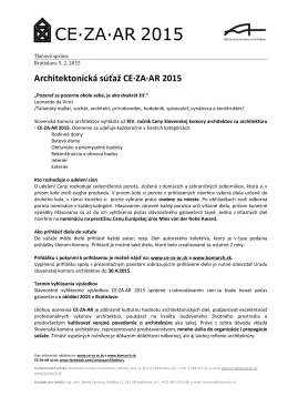 Cena Slovenskej komory architektov za architektúru