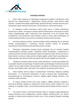 Instrukcja montażu - www.kominkowala.pl