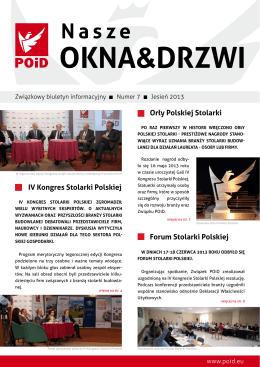 Biuletyn POiD - Związek Polskie Okna i Drzwi