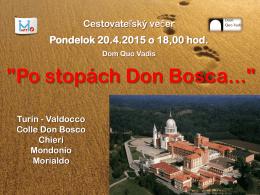 """""""Po stopách Don Bosca..."""""""